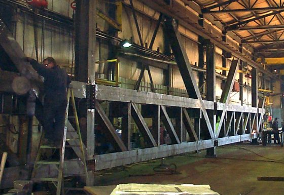 Fourniture de fermes de toit lourdes à longue portée