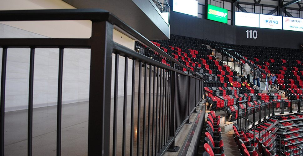 Arena railings