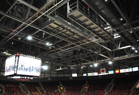 Arena Structure Fabrication and Installation