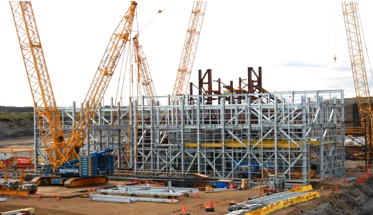 Fabrication and Installation of 2500T galvanize structure