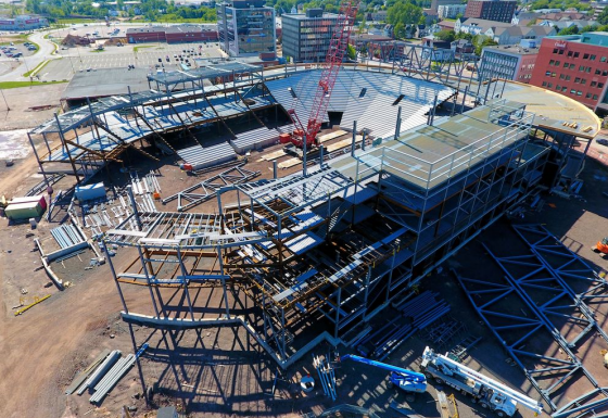 Fabrication and Installation of structural steel – over 3000t